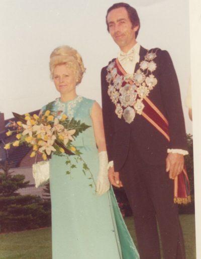1975 – Gottfried I. (Holzenleuchter) und Königin Margret
