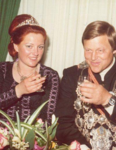 1976 – Heinz Willi I. (Patten) und Königin Waltraud