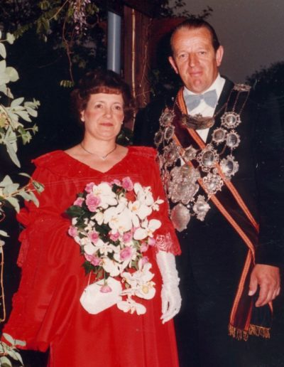 1982 – Walter II. (Born) und Königin Elfriede
