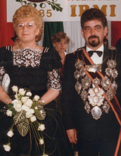1985 – Adi I. (Delvos) und Königin Irmi