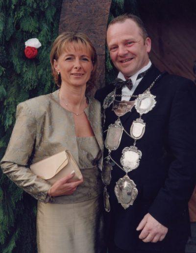 2002 – Wolfgang I. (Kaiser) und Königin Annegret