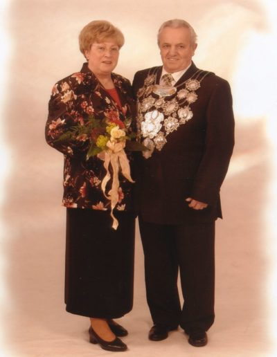2005 – Fritz II. (Lange) und Königin Hannelore